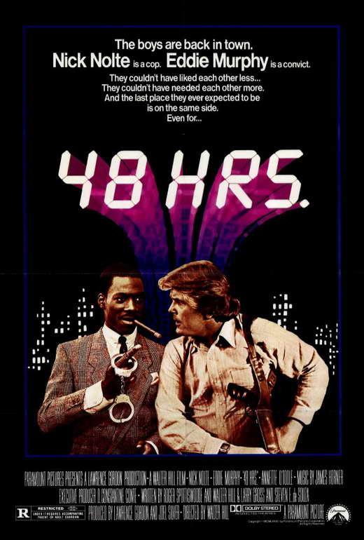 48 hrs movie poster 27x40 ned dowd nick nolte eddie