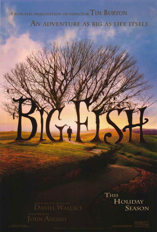 Big fish movie poster print 27x40 ewan mcgregor albert for The big fish movie