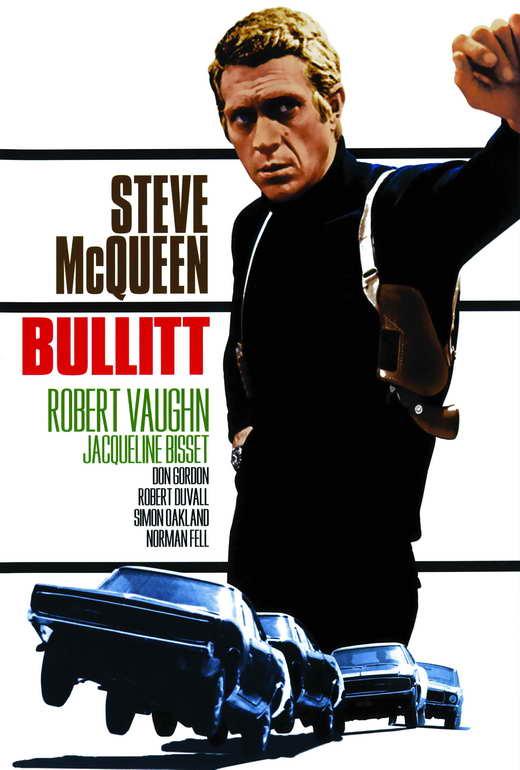 bullitt movie poster spanish 27x40 steve mcqueen robert vaughn jacqueline bisset ebay. Black Bedroom Furniture Sets. Home Design Ideas
