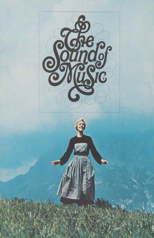 the sound of music movie promo poster e julie andrews