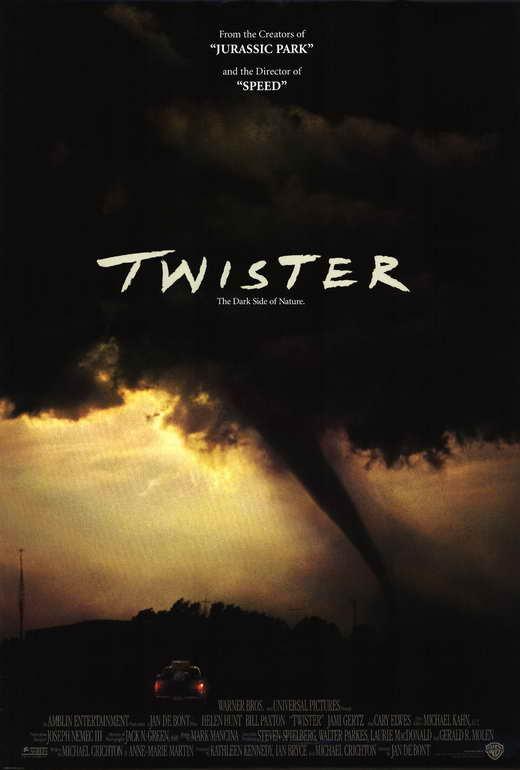 Twister movie poster 27x40 b bill paxton helen hunt cary for Twister cast