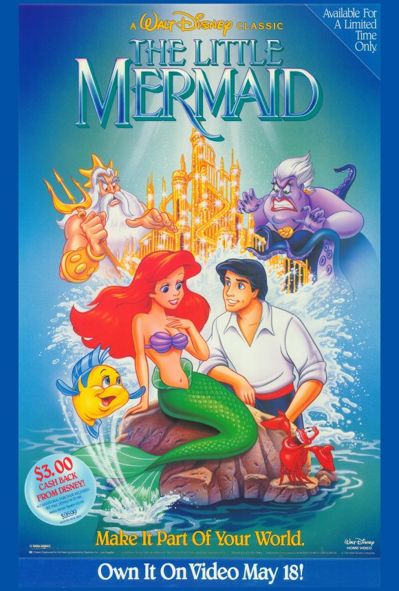 Poster Favorites THE LITTLE MERMAID Poster Movie (27 x 40 Inches - 69cm x 102cm) (Style B) Jodi Benson Christopher Daniel Barnes Pat Carroll Rene at Sears.com