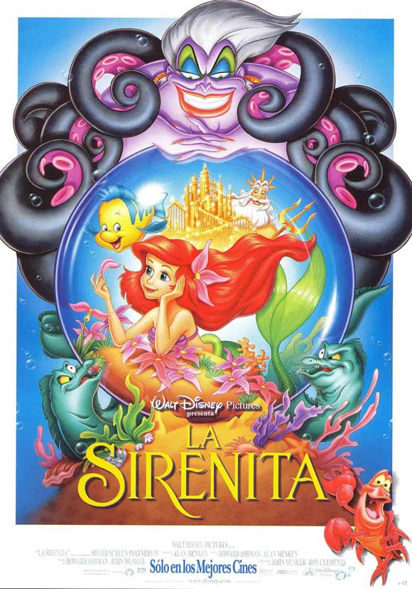 Poster Favorites THE LITTLE MERMAID Poster Movie (27 x 40 Inches - 69cm x 102cm) (Spanish) Jodi Benson Christopher Daniel Barnes Pat Carroll Rene at Sears.com