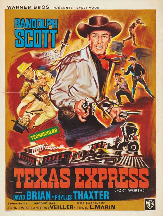 Poster Favorites FORT WORTH Poster Mini Promo Movie (11 x 17 Inches - 28cm x 44cm) (Belgian) Randolph Scott David Brian Phyllis ThBGter Helena at Sears.com