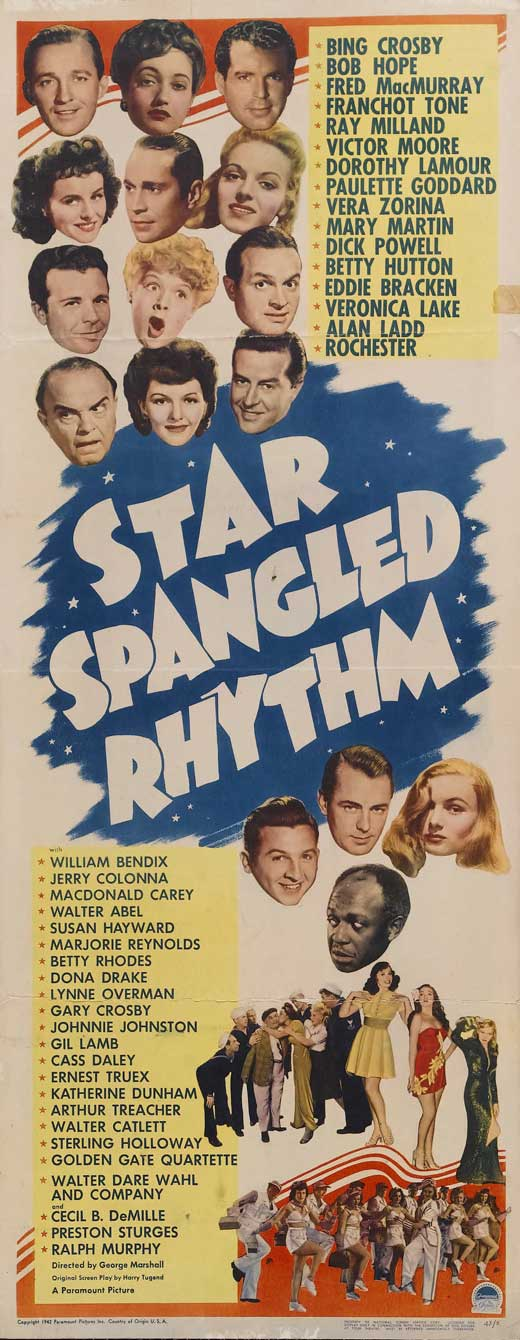 All Poster Shop STAR SPANGLED RHYTHM Poster Movie (14 x 36 Inches - 36cm x 92cm) (Insert) Bing Crosby Bob Hope Fred MacMurray Franchot Tone Ray at Sears.com