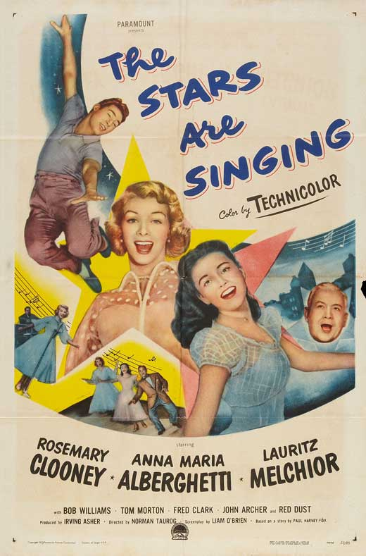 All Poster Shop THE STARS ARE SINGING Poster Movie (27 x 40 Inches - 69cm x 102cm) Rosemary Clooney Anna Maria Alberghetti Lauritz Melchior Bob at Sears.com